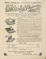 Advert for the Cyclostyle Duplicating Machine